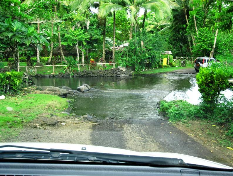 River crossing in Upolu Samoa