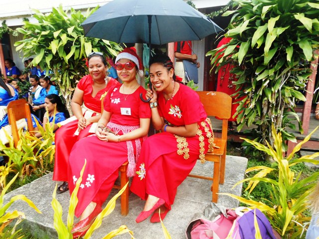 Teacher candidates at Magazine Week 2012 Tonga