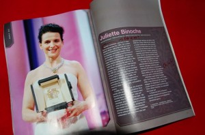 Juliette Binoche in Chinese Airline Magazine