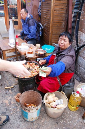 Fried Potato with chili paste.Lijiang