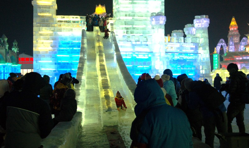 Harbin Ice Festival Slides