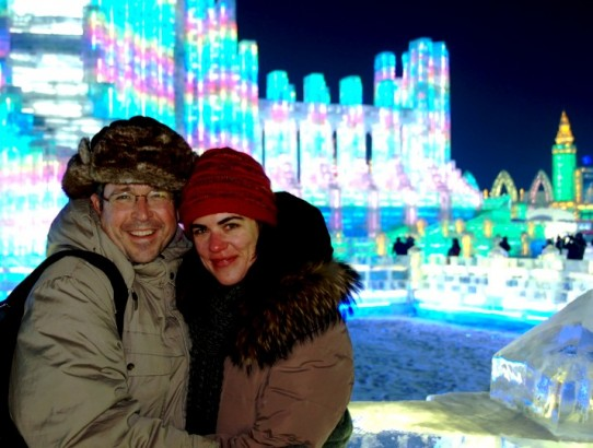 Harbin Ice Festival.Sam and My Frozen Nose!