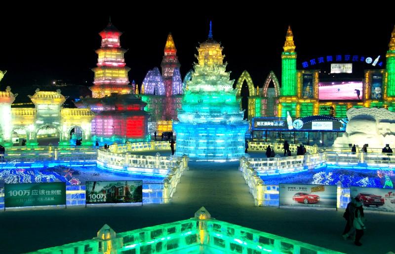 Harbin Ice Festival.pagoda