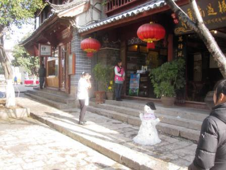 Snowman of Lijiang Old Town