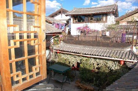 Courtyard view of Moon Inn