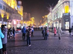 Zhongyang Pedestrian Street. Old Town Harbin