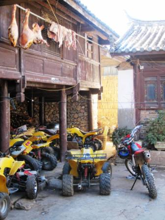 Four-Wheelers and ... Cured Yak Meat? (Baisha)