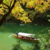 boating on the katsura river at arachiyama gardens in kyotohellip