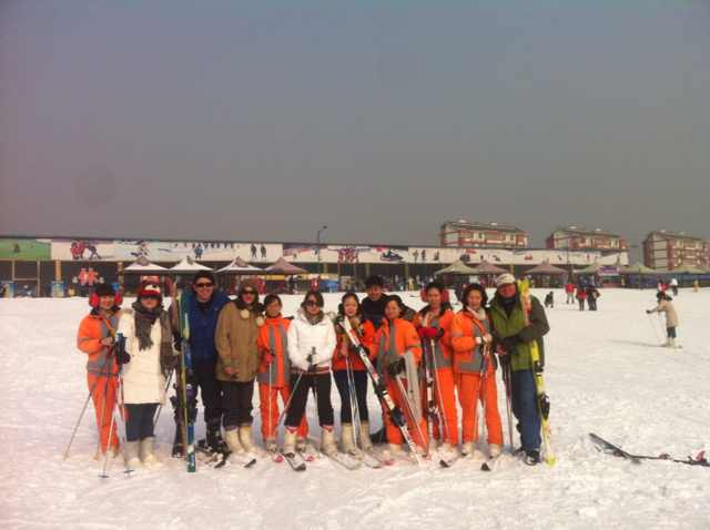 Our Rag-Tag Group at Panshan Ski Resort