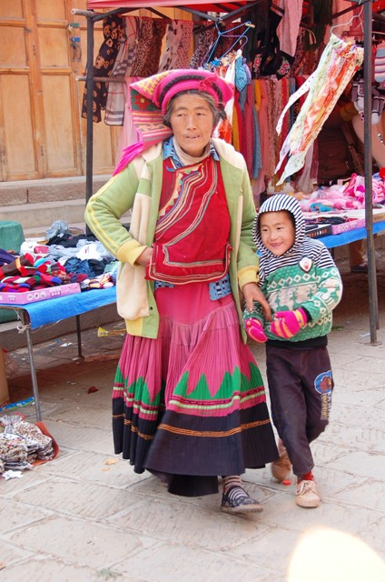 Shaxi Friday Market, Woman in Traditional Dress