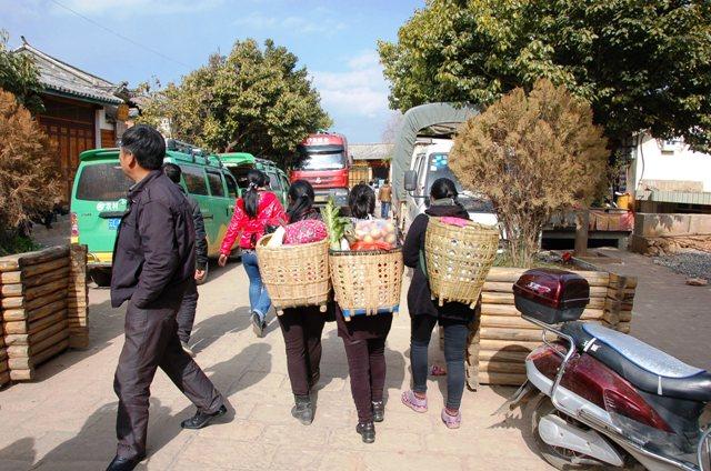 Shaxi Young Women Heading into Market