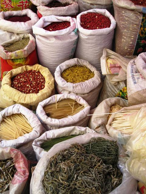 Shaxi Friday Market: Dried Goods