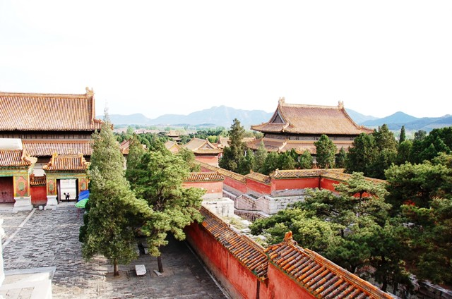 "View of Cixi's tomb ""rooftop"" at Eastern Qing Tombs."