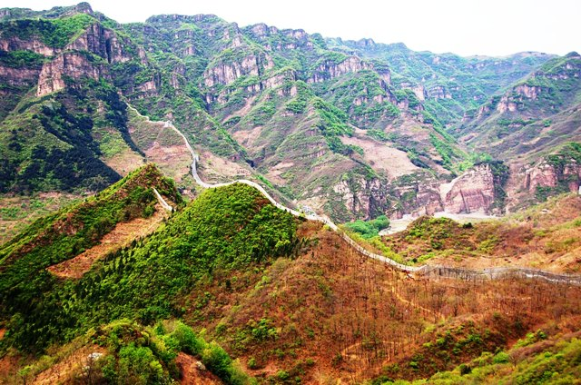 View of Huangya Pass Ji County.