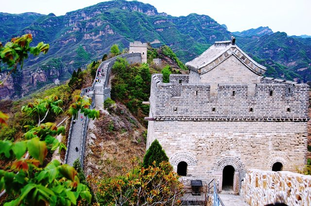 Guard Towers of The Great Wall of China at Huangya Pass Ji Country