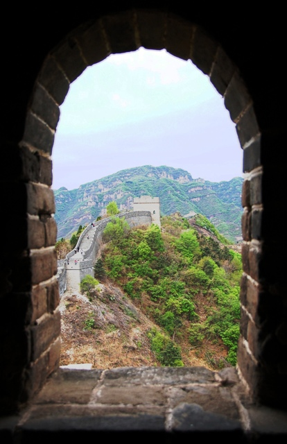 Huangya Pass Great Wall. View from one of the watch towers.
