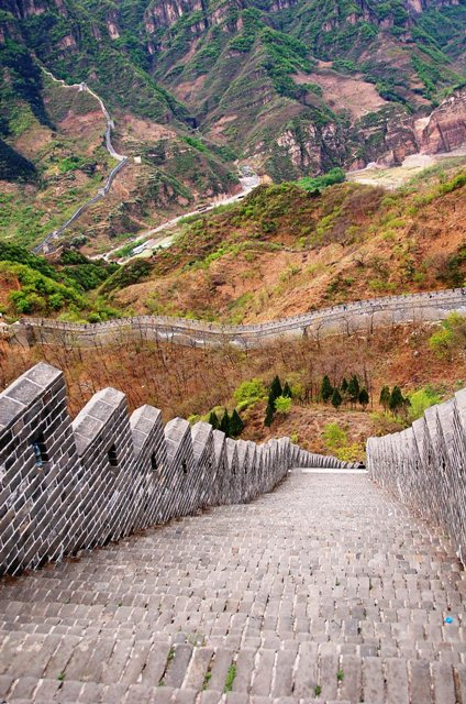 Steep Stairways along Huangya Pass Ji Country