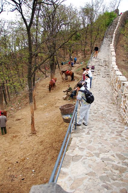 This is at about the 2/3 mark at Huangya Pass. If you're too tired to continue, the horses are there to help, although it is unclear how far they can actually take you as that side-path doesn't go for long ...