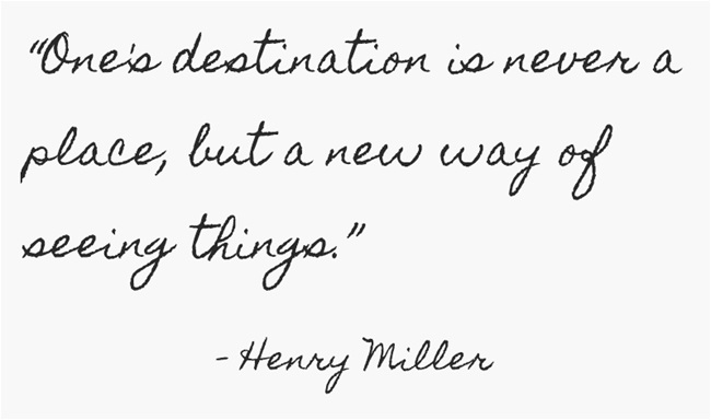 Henry Miller travel quote