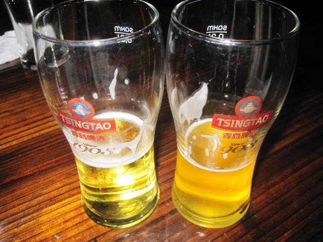 Tsingtao Regular Pilsner and Unfiltered Version