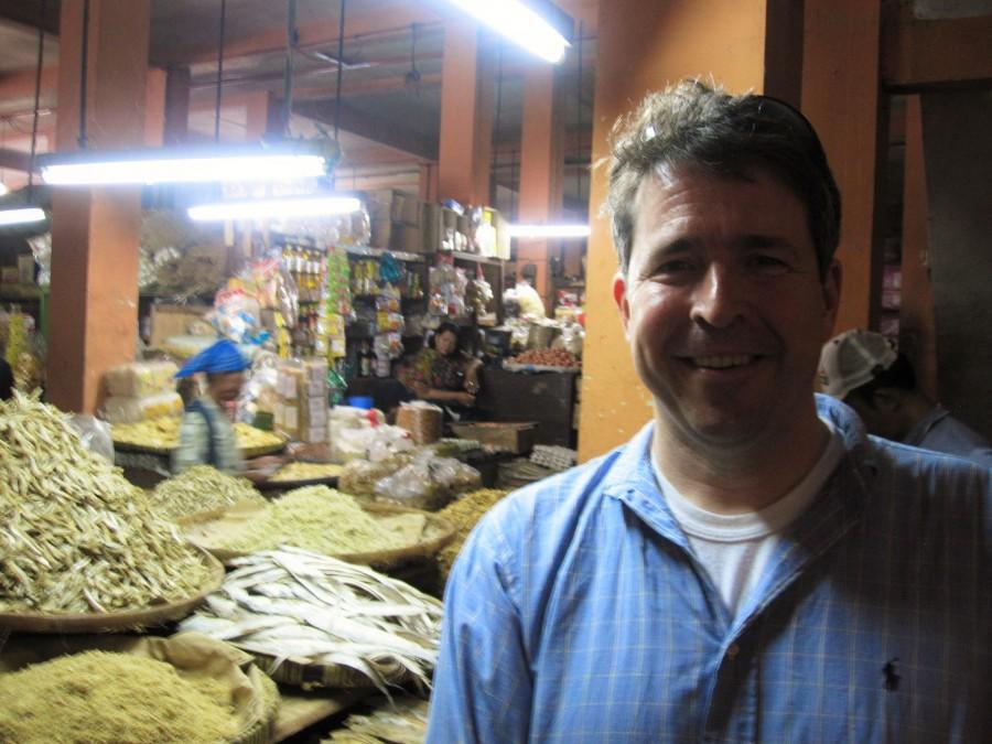 Sam at Pasar Beringharjo Jogya