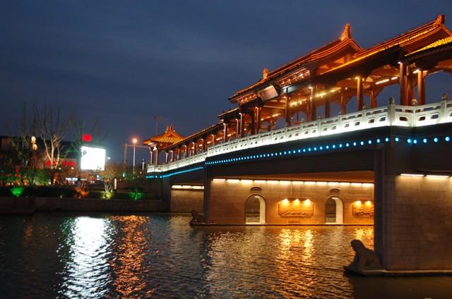 Bridge into Suzhou from train station.