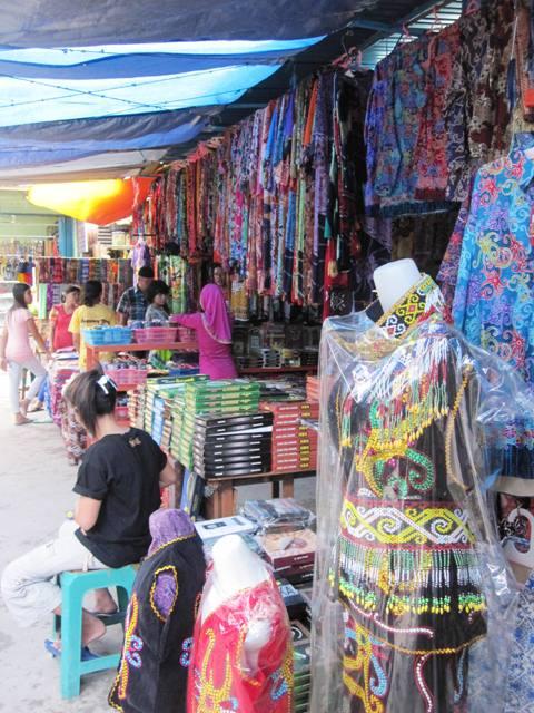 Batik clothes and Dyak Costumes