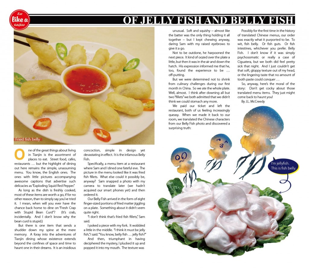Eating out in China: Jellyfish and Bellyfish