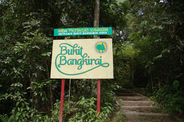 Path entrance for canopy walk at Bukit Bangkirai
