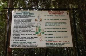 Rules of the RoadCanopy. Bukit Bangkirai, Balikpapan, Indonesia