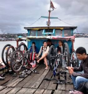 Bikes on Board Ferry To Penajam