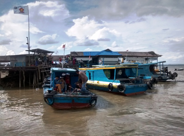 Penajam Wharf. East Kalimantan, Indonesia