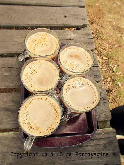 Coffee Time! Beach stalls at Penajam