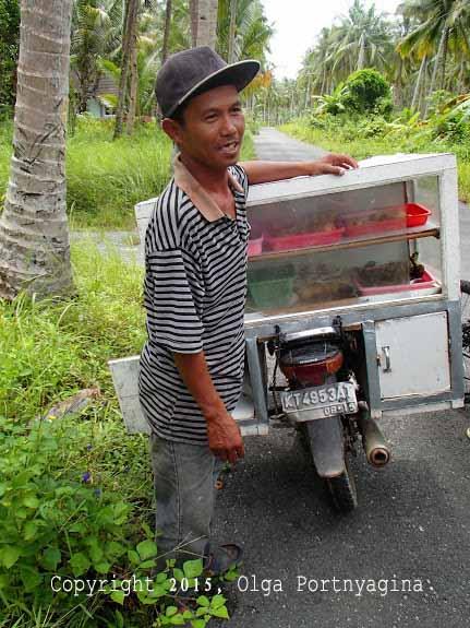 Vendor Selling Snacks ... a/k/a Kampung Sushi!
