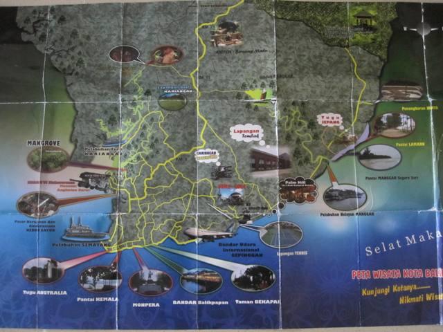 Tourist map of Balikpapan