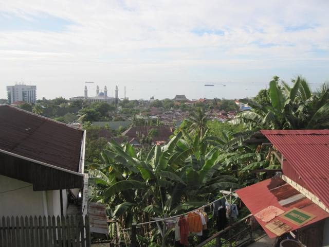 View of coast and Balikpapan's main mosque from Chevron complex