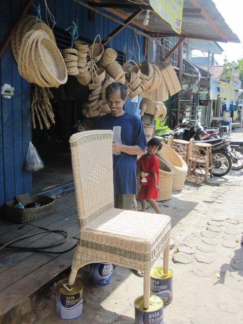 Wicker Shop. There are many of these along the main road of Jendral Sudirman, with clusters near the airport.