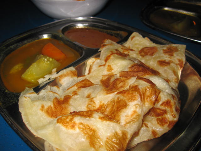 Roti Canai with curry
