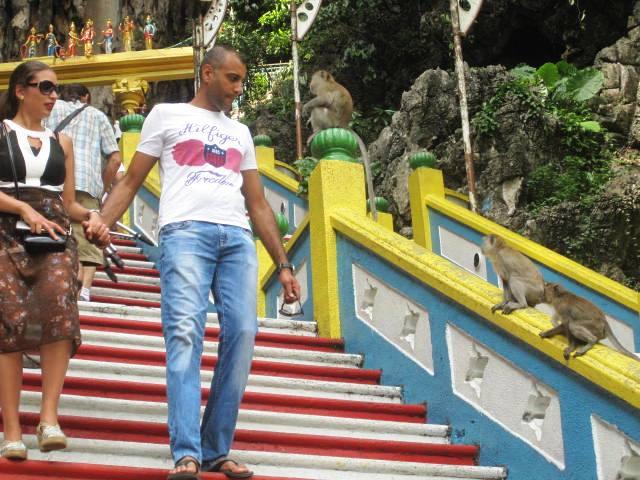 Macaques at Batu Cave