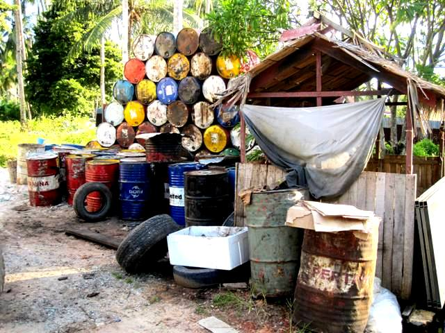 Old oil barrels.Balikpapan Indonesia