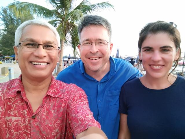Pak Amir's selfie of us at Port Dickson, en route to KL from Melaka