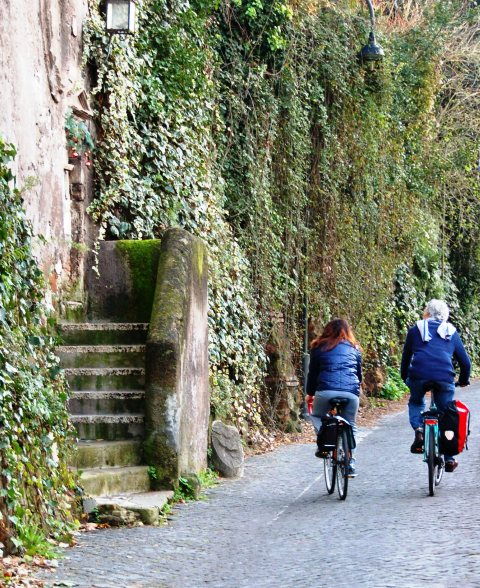 Appian Way leading to park from Rome.