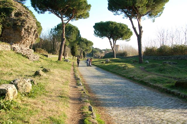 View of Appian Way with