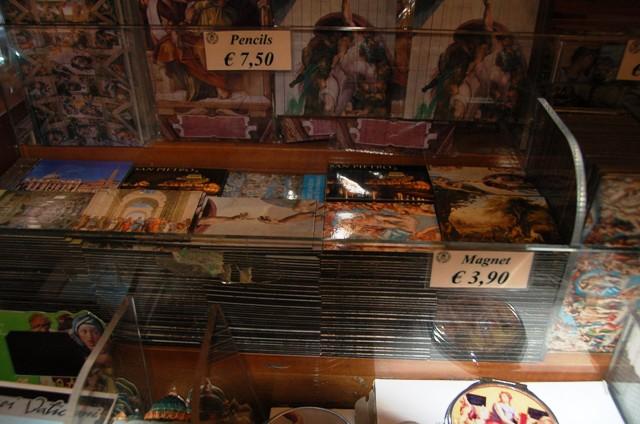 Sistine Chapel gift shop