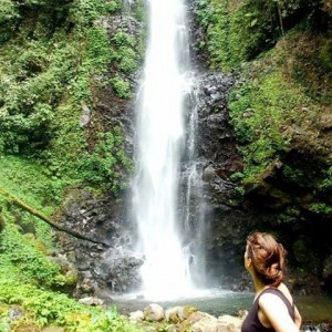 Hiking to Melanting waterfall in north Balis beautiful mountain townhellip