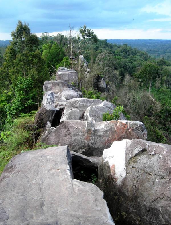 Backbone of Bukit Dinding.Balikpapan Indonesia