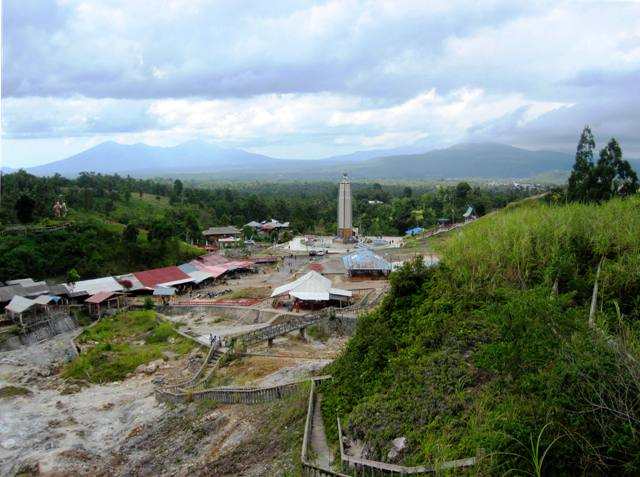 Bukit Kasih from a distance