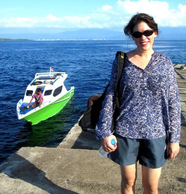 Bunaken Pier at southend of island