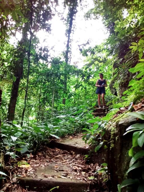 Jesse on Path to Kali Waterfall