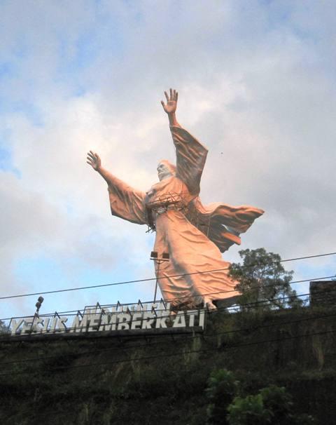Manado's Giant Jesus Statue